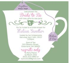 Tea party bridal shower invitations by beforetherings on etsy bridal shower tea party cup invitation filmwisefo