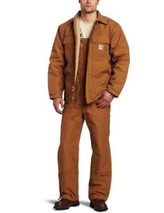 Carhartt Mens Big  Tall Flame Resistant Heavyweight Duck Traditional CoatBrown CloseoutLarge Tall ** Check this awesome product by going to the link at the image.