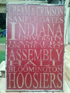 Bloomington Indiana Subway hand painted sign by LittleRedPorch, $145.00