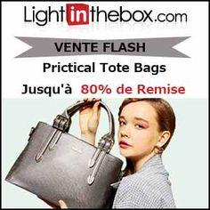 #missbonreduction; Vente Flash : jusqu'à 80 % de remise sur les Prictical Tote Bags chez Light in the box. http://www.miss-bon-reduction.fr//details-bon-reduction-Light-in-the-box-i852558-c1835802.html