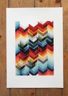 Chevron Multicolour Print