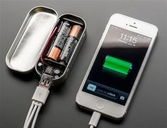 Charge on the go. Build this simple yet powerful gum-tin sized battery pack and give power to your phone or other USB device!