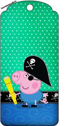 Tag Agradecimento George Pig Pirata: