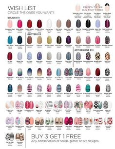 look at all your choices with color street 12 solids 4