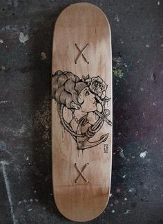 Old school skate deck #tattoos #woman #board