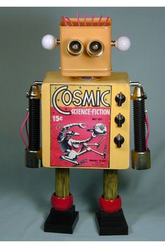 """""""COSMIC""""  Found Object  Robot Sculpture Assemblage.   Sally Colby - Etsy."""