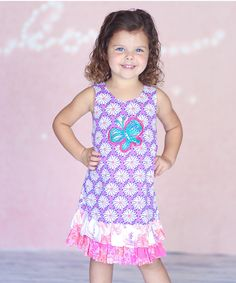Look at this Purple Floral Julianna Dress - Infant, Toddler & Girls on #zulily today!