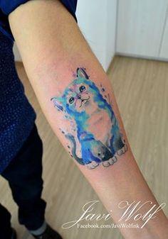 Watercolor cat - diseño y estilo propio