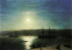 Bosphorus by moonlight - Aivazovsky