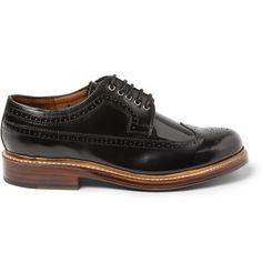 Grenson Sid High-Shine Leather Brogues | MR PORTER