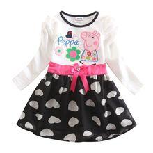 retail flower girl dress long sleeve fashion girl autumn dresses for christmas dress novatx brand children clothes top(China (Mainland))