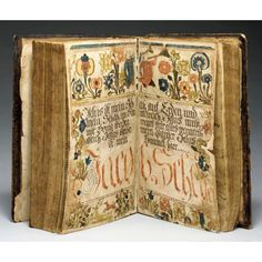 Bible illumination attributed to Johannes Ernst Spangenberg (1755-1814), known as the Easton Bible Artist