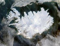 IJsland Satellietfoto