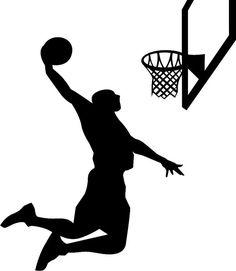 "Basketball Player Silhouette Wall Decal Vinyl Wall Art 48"" x 30"""