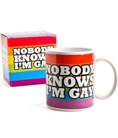 Nobody Knows I'm Gay Mug | hart&heim Cool Gifts