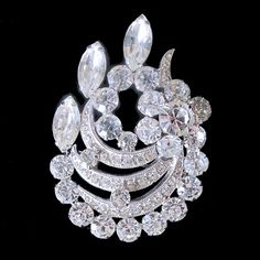 Brilliant Clear Eisenberg Ice Vintage Crystal Brooch from Vintage Jewelry Girl! #vintagejewelry #vintagejewellery