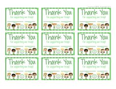 Girl Scouts - FREE Printable Thank You cards