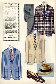 a good old sunmer day of BB Preppy Mens Fashion, Stylish Mens Outfits, 1960s Fashion, Vintage Fashion, Estilo Ivy, Ivy League Style, Ivy Style, Fashion Illustration Vintage, Outfit Grid