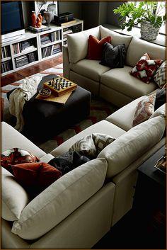 Best Inventive Living Room Decoration Interrior Design - living rooms Living Room Decor Tips, Fresh Living Room, Cozy Living Rooms, Living Room Inspiration, Small Living, Modern Living, Contemporary Sofa, Sectional Sofa, Room Ideas