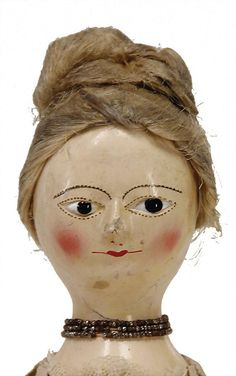 Queen Ann, wooden doll, England, around 1775 - 1780, : Lot 0799
