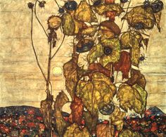 Intercepted by Gravitation | Egon Schiele Sunflowers (also known as Wilted...