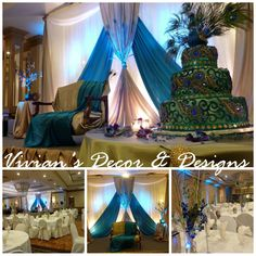 Image detail for -Peacock themed wedding - Indian wedding decor | Vivian's Decor ... #shaadibazaar, #indianwedding