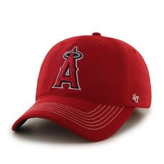 Los Angeles Angels Game Time Closer Red 47 Brand Stretch Fit Hat