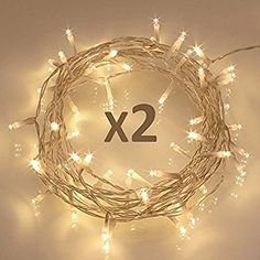 [2 Pack] 40 LED Outdoor [Timer] Battery Fairy Lights on 5M Clear String Cable - (8 Modes, 120 Hours of Lighting, IP65 Waterproof, Warm White) - - Amazon.com