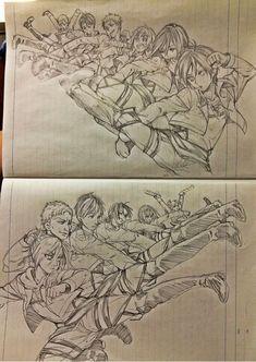 Woooaw this is talented / Attack on titan Attack On Titan Meme, Attack On Titan Fanart, Attack On Titan Ships, Levi X Eren, Armin, Me Anime, Manga Anime, Hiro Big Hero 6, Fan Art Anime