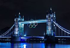 London's Tower Bridge is ready for the Games! Wish I could go to London and I wish I could go to the Olympics!
