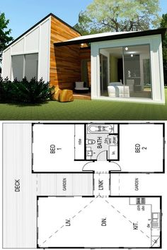 2 Bedroom Modern Bungalow House Design Nova In 2020 Small House Design Modern Bungalow House Tiny Affordable Thai Inspired Two Bedroom Bungalow Ulric Home 3 Bedroom Bungalow House Design In. Tiny House Cabin, Dream House Plans, Modern House Plans, Small House Plans, House Floor Plans, Dog Trot House Plans, Dream Houses, Modern Bungalow House Design, Small House Design