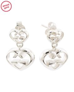 a5b42babf Made In Italy Sterling Silver Love Britt Double G Earrings - Jewelry &  Accessories - T.J.Maxx