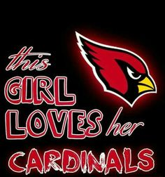 This Girl Loves her Arizona Cardinals #AZLadyBirds @ArizonaLadyBirds 2016 ❤