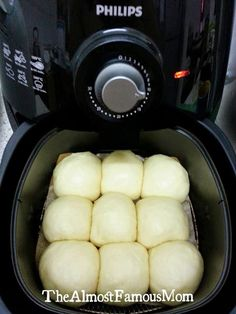 The Almost Famous Mom: AirBaked Buttery Dinner Rolls – Air Fryer Recipes – Home Recippe Air Frier Recipes, Air Fryer Oven Recipes, Air Fryer Dinner Recipes, Power Air Fryer Recipes, Air Fryer Recipes Breakfast, Phillips Air Fryer, Nuwave Air Fryer, Dry Fryer, Cooks Air Fryer
