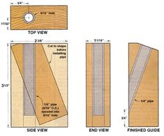 Woodworking Projects Pocket-Hole Drilling Guide Equipped with this handy shop aid, you can drill quick, accurate pocket holes. Woodworking Jig Plans, Woodworking Hand Tools, Wood Tools, Woodworking Workshop, Woodworking Techniques, Woodworking Projects, Diy Tools, Pocket Hole Drill, Pocket Screws