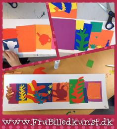 Matisse collage art lesson