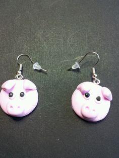 Boucles D'Oreilles Tete DE Cochon Fimo   eBay