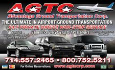Hire AGTCORP for business trips, weddings, corporate events or other occasions, our shuttle provides a more reliable option than taxis or Uber. Call us at Ground Transportation, Airport Transportation, Transportation Services, Costa Mesa California, Southern California, Airport Limo Service, Airport Shuttle, Mission Viejo, Laguna Beach