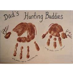 Dad quick handprint gift ideas
