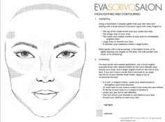 How and where to highlight and contour with make-up diagram