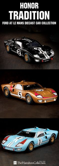Don't miss out on the opportunity to celebrate the tremendous milestone of Ford winning Le Mans with the 50th Anniversary of Ford at Le Mans Diecast Car Collection, inspired by the three cars that swept the historic race in the early '60s! Expertly engineered in high-quality diecast by Shelby Collectibles, these 1:18-scale tributes are a must-own!