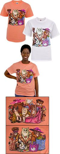 Shopping Cat Tails T-Shirt at The Animal Rescue Site