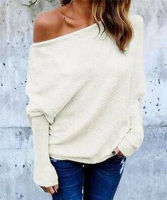 e584d53c35 Avodovama M Black Off Shoulder Knitted Sweater Women Elegant Batwing Sleeve  Jumper Pull Femme Winter Casual Loose Pullover
