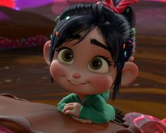 """Cuteness just bitch slapped you in the face."" Wreck-It Ralph: You're a winner! Vanellope von Schweetz: I'm a winner. Wreck-It Ralph: And you're adorable! Vanellope von Schweetz: I'M AN ADORABLE WINNER! Halloween I'm already considering costume ideas. Disney And Dreamworks, Disney Pixar, Walt Disney, Disney Art, Cute Disney Characters, Disney Movies, Hard Candy, Disney Animation, Animation Movies"