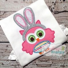 Owl with Bunny Ears Applique - 3 Sizes! | What's New | Machine Embroidery Designs | SWAKembroidery.com Applique Frenzy