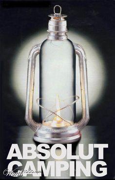 Absolut CAMPING. coleman lantern poster art