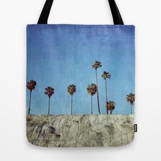 Bluff Palms Tote Bag #palmtrees #blue #sky #palms #nature #texture #photography #art #society6 #tote #bag #carry #purse #totebag #fashion #style #shop #shopper #shopping #bookbag