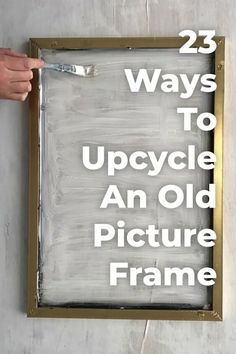 23 great things you didn't know you could do with old photo frames - UPCYCLING great. - 23 great things you didn't know you could do with old photo frames – UPCYCLING IDEAS, # - Upcycled Home Decor, Diy Home Decor, Repurposed Furniture, Diy Upcycled Art, Upcycled Furniture Before And After, Diy Furniture, Upcycled Garden, Decor Room, Metal Furniture