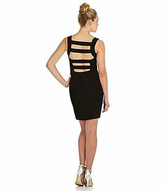 Honey and Rosie CageBack Fitted Dress #Dillards