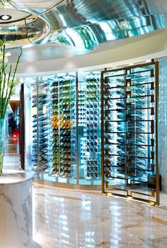 1000 images about optical store designs on pinterest for Walk in wine cellar
